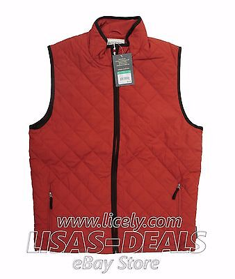 New Field and Stream Quilted Sportsman's Vest Full Zip Green Navy Black L XL