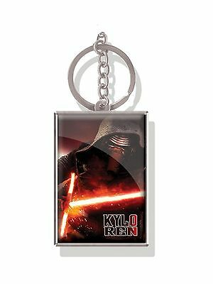 Genuine Star Wars Force Awakens 'Kylo Ren' Lenticular 3D Metal Keyring Fob