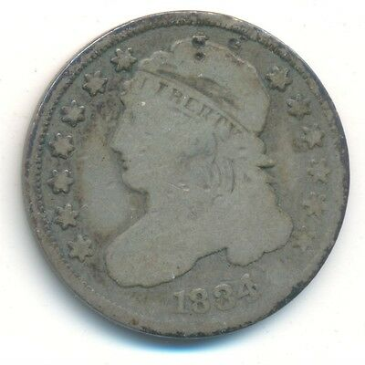 1834 Capped Bust Dime - GOOD Sharpness