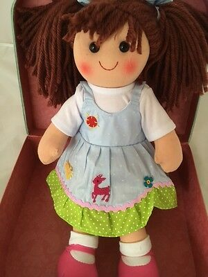 Personalised Rag Doll Belinda Christening New Baby Flower Girl 38 cm Ragdoll