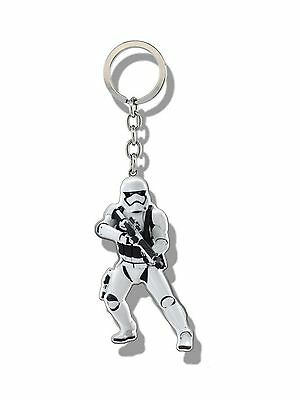 Genuine Star Wars The Force Awakens 'Storm Trooper' Shaped Metal Keyring Fob