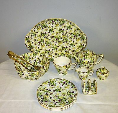 Wade England Thistle Flower Pattern Breakfast Set & more
