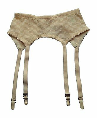 Extra-Plus Sizes 9X-12X Stretchy Powernet Vintage-New Nude Garter Belt Garters