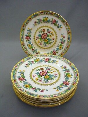 """8 COALPORT HAND PAINTED Ming Rose Bone China 6 1/4"""" Scalloped Bread Side Plates"""
