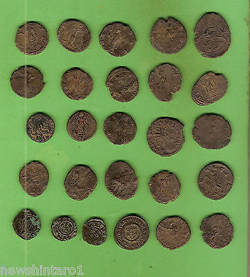 #d293.  31 Unidentified Ancient Mostly Roman Bronze Coins