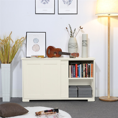 56d65c04a4fc Storage Cabinet Sideboard Buffet Cupboard Wood Sliding Door Pantry Kitchen  New