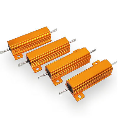 US Stock 4pcs 15 ohm 15 50W Watt Aluminum Housed Metal Case Wirewound Resistors
