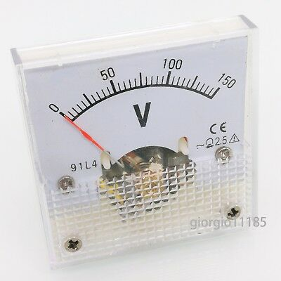 US Stock AC 0~150V Square Analog Volt Pointer Needle Panel Meter Voltmeter 91L4