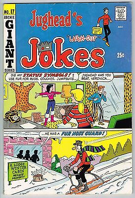 "Jughead's ""laugh Out"" Jokes #17 Archie Giant Series Bronze Age 1970 Fn-"