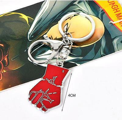 ONE PUNCH MAN Saitama Metal Model fist Keychain Key Ring Pendant Anime gift