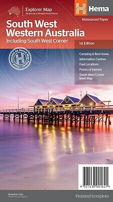HEMA SOUTH WEST WESTERN AUSTRALIA STATE MAP 6th Ed - TOURING - CAMPING - 4X4