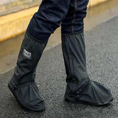 Hot Waterproof Motorcycle Biker Reflective Rain Boot shoes Footweaar Cover Black