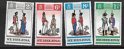 St.helena Sg245/8 1969 Military Uniforms Mnh