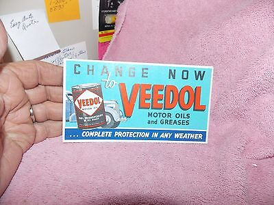 Advertising  Ink  Blotter Veedol Motor Oils & Greases FREE  SHIP In USA