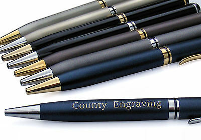 Personalised Harvard Executive Biro Ballpoint Pen Engraved With Any Text