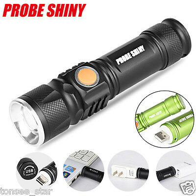 Adjustable 5000LM LED Zoomable MINI USB Aufladbare Taschenlampe Torch Portable