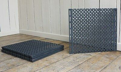 Antique Cathedral Cast Iron Floor Gothic Grille Grilles Grids Heating Covers