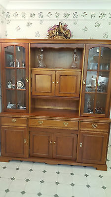 Vintage Welsh Dresser By Younger Display Cabinet Unit 187 X 167 Collection Only