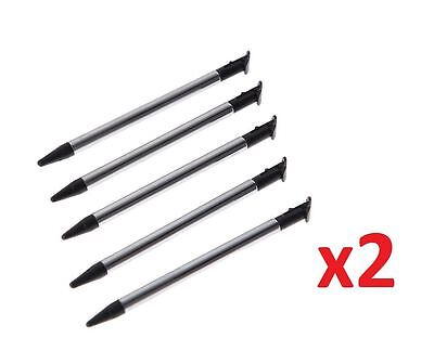 10x  ̗̀new ̖́ 3DS XL 2015 Black Stylus Metal Retractable Touch Pen for Nintendo