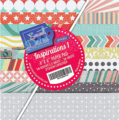 """Inspirations 1 Sweet Dixie 6 x 6"""" Scrapbooking Paper Assorted Colours 36 Sheets"""