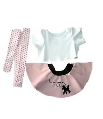 """50s Girl outfit skirt t-shirt scarf teddy outfit clothes fits 15"""" Build a Bear"""