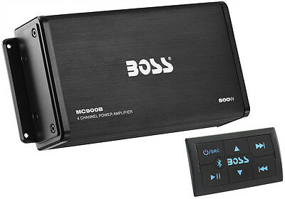 Boss Audio 500w 4-Channel Bluetooth Amplifier+Remote 4 Polaris RZR/ATV/UTV/Cart