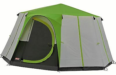 Coleman Cortes Octagon 8 Berth Man Person Tent Glamping Yurt Festival Green