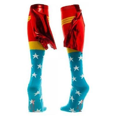 Wonder Woman - Shiny Cape Knee High Socks - New & Official DC Comics With Tags