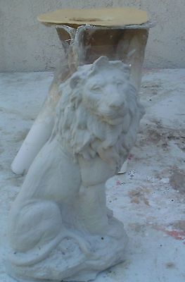 CONCRETE PLASTER MOLD latex and fiberglass LION mold