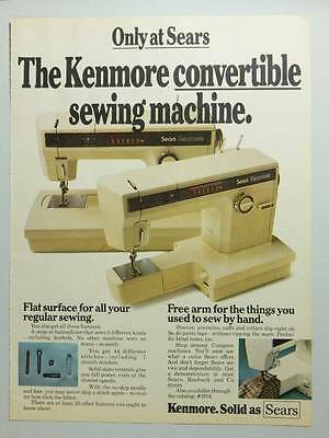 Sears Kenmore Convertible Sewing Machine Vintage Magazine Ad Page 1976