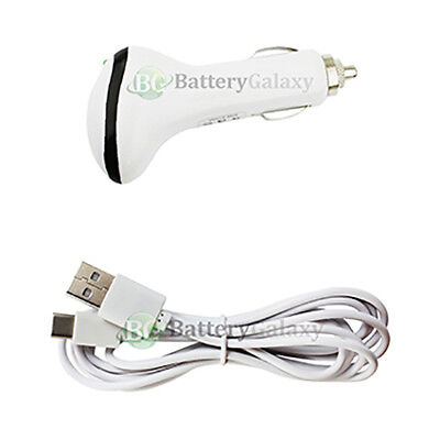 6FT USB Type C Cable+Car Charger for Android Motorola Moto Z Force/Z Play Droid