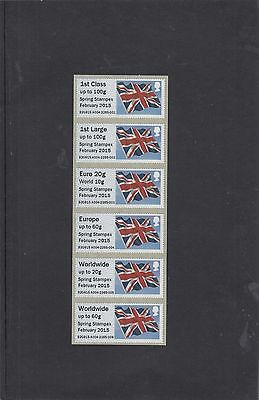 GB 2015  Post & Go Frama ATM Union Flag STAMPEX overprint 1st Coll Strip reel A4