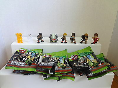 Lot Of 8 New Ghostbusters Ecto Mini Figures With Open Packages