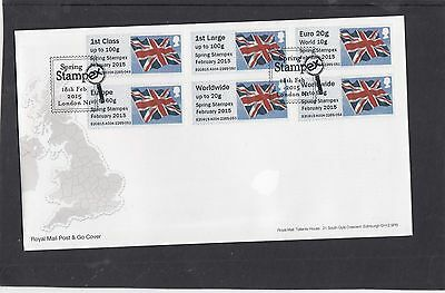 GB 2015  Post & Go Frama Union Flag STAMPEX overprint 1st Collect Strip A04 FDC