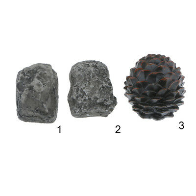 HIDE A KEY Holder Rock/Pine Cone Key Storage Box for Outdoor Garden Yard Decor