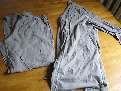 Bump In The Night Maternity Nursing Gown And Robe 2 Piece Set GRAY Sz L