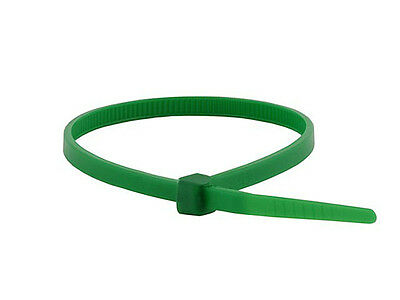Monoprice 8-inch Cable Zip Ties, 40lbs, 100/Pack, Green (5766)