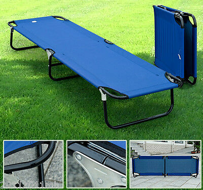 """Outsunny 75"""" Portable Military Folding Cot Camping Sleeping Bed Hiking Travel BU"""