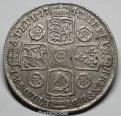 UK - 1743 George II, Shilling - Very Fine