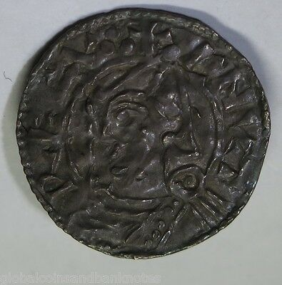 UK - Cnut ( Canute ) Silver Penny C:1027 - Very Fine