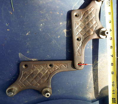 Antique Theo A Kochs Brackets for Barber Chair Arm Rest & Back 451