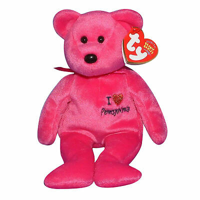 Ty Beanie Baby Pennsylvania I Love - MWMT (Bear State Exclusive)