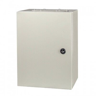 Electric wall mount Enclosure  IP65 Metal All Sizes Available + Mounting Plate