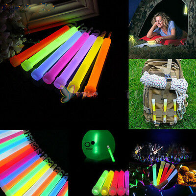 "6""Neon Rave Christmas Glow Sticks Party Light Lanyard Assorted Decor 5PCS"