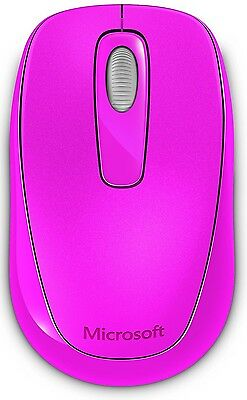 Microsoft Wireless Mobile Magenta Mouse 1000 for Computer PC