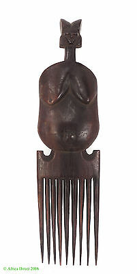 Comb Chokwe with Face on Handle Congo African Art  SALE WAS $65
