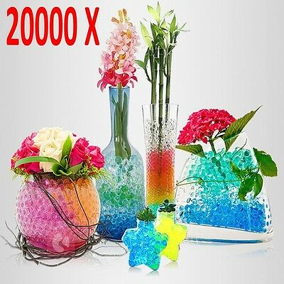 20000X Water Balls Crystal Pearls Jelly Gel Beads for Orbeez Toys Refill Deco