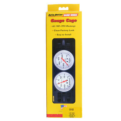 """Auto Meter 50102 Dual Gauge Cage 1987-93 Ford Mustang For 2-5/8"""" Gauges"""
