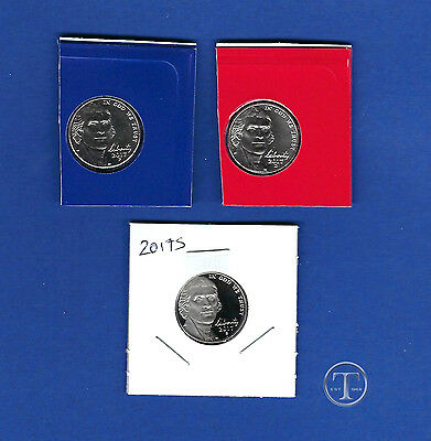 2017 P D and S BU AND Proof Jefferson Nickel set-PD Uncirculated from rolls-