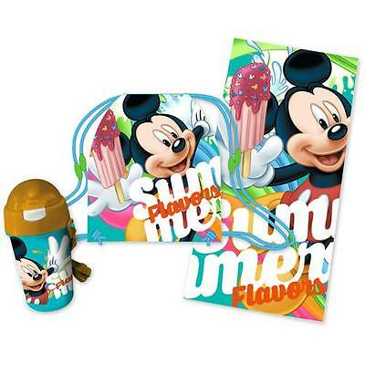 Mickey Mouse - Summer Flavors Towel & Bottle Beach Set New & Official Disney